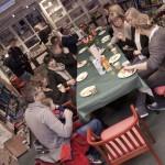 Dagen begynte godt med ei skjeva og fem forfattaarr på Haugesund Libris. Så kjekt!